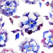 Blue flowers - stock illustration