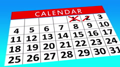 Calendar Month - Score out data Animation Stock Footage