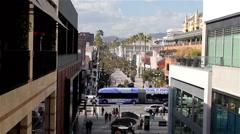 3RD STREET PROMENADE, SANTA MONICA, CALIFORNIA, USA Stock Footage