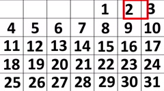 Basic Animation of a Month Calendar Stock Footage