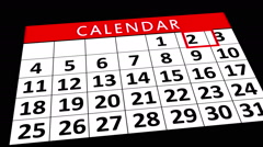 Calendar Month - Animation Stock Footage