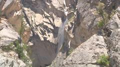 Waterfall at Gangotri in Uttarakhand, India Stock Footage