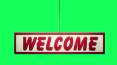 Welcome sign classic animations loopable -1080p Stock Footage
