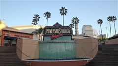 UNIVERSAL STUDIOS LOGO, UNIVERSAL CITY LOS ANGELES, CALIFORNIA, USA - stock footage