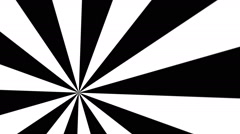 Animation of a black and white spinning Wheel - stock footage