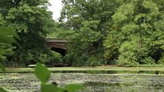 Prospect Park 19th Century Bridge Medium Stock Footage