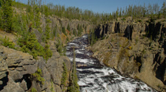 River flowing through Lewis Canyon Stock Footage