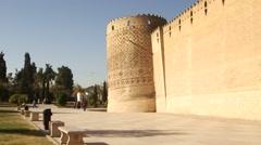 Karim Khan citadel in Shiraz, Iran. - stock footage