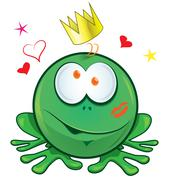Frog cartoon crazy for love Stock Illustration