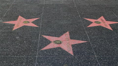 HOLLYWOOD WALK OF FAME, HOLLYWOOD BOULEVARD, LOS ANGELES, CALIFORINA, USA Stock Footage