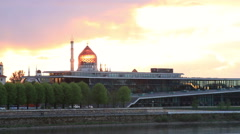 Internationales Congress Center and Yenidze in Dresden Stock Footage