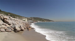SURFRIDER BEACH, MALIBU, CALIFORINA, USA Stock Footage