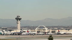 LA INTERNATIONAL AIRPORT, LOS ANGELES, CALIFORINA, USA Stock Footage