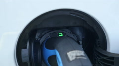 Electric car charger, close shot Stock Footage