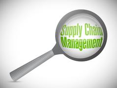 Stock Illustration of supply chain management magnify glass illustration