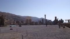 Lower Persepolis, north Shiraz, Iran Stock Footage