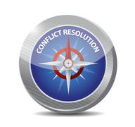 conflict resolution compass illustration design - stock illustration