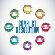 conflict resolution people diagram illustration - stock illustration