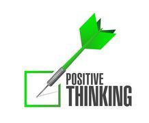 positive thinking check dart illustration design - stock illustration
