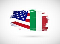 Stock Illustration of italian american flag illustration design