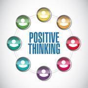 Positive thinking people diagram illustration Stock Illustration