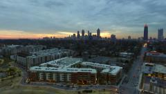 Atlanta Aerial Cityscape Sunset - stock footage