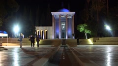 Qavam House and nature of the Eram Garden, historic Persian garden in Shiraz, Ir Stock Footage