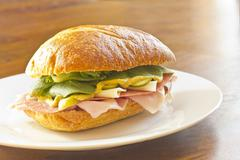Ciabatta Roll Sandwich - stock photo
