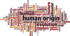 Human origin word cloud Piirros
