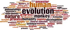 Evolution word cloud Piirros