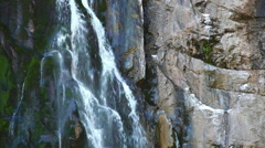 Waterfall, stream of water falling from a cliff Stock Footage