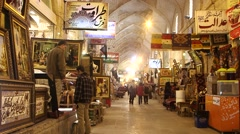 Vakil Bazar in Shiraz, Iran Stock Footage