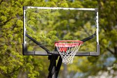 Glass Basketball Backboard and Hoop Stock Photos