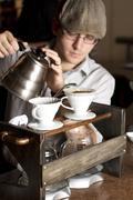Poring Special Coffee Brew Stock Photos