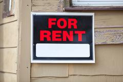 For Rent Sign - stock photo