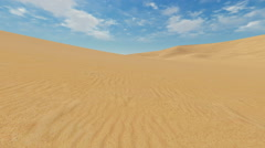 Motion to horizon through sandy dunes Stock Footage