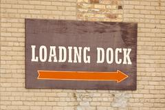 Loading Dock Sign - stock photo