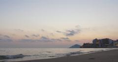 Sunset sky panorama bay benidorm 4k Stock Footage