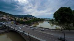 Tbilisi Georgia city center time lapse 4kUHD Stock Footage