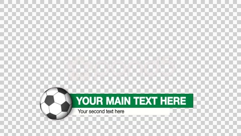 After Effects Project - Pond5 Soccer lower thirds 46793639
