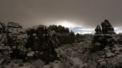 Timelapse in the Torcal de Antequera Stock Footage