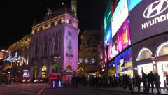 Stock Video Footage of Piccadilly Circus at night (time lapse)