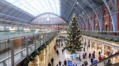 St Pancras International Railway Station, Londont 8 Stock Footage