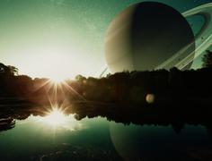 Fantasy Planet - stock photo