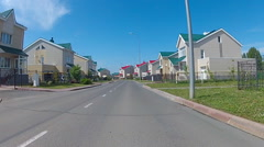 Idyllic suburbs with homes at spring. Stock Footage