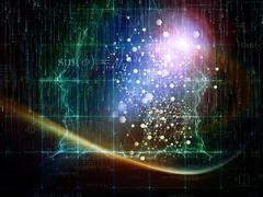 Particle Glow Stock Illustration