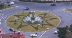 Malaga university crossroad fountain traffic street 4k Stock Footage