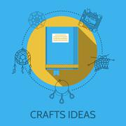 Flat design illustration of crafts ideas - stock illustration