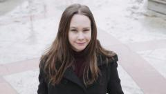 Teenage Girl make funny faces - Cinema 4K Stock Footage