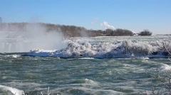Niagara Falls River winter 12svv Stock Footage
